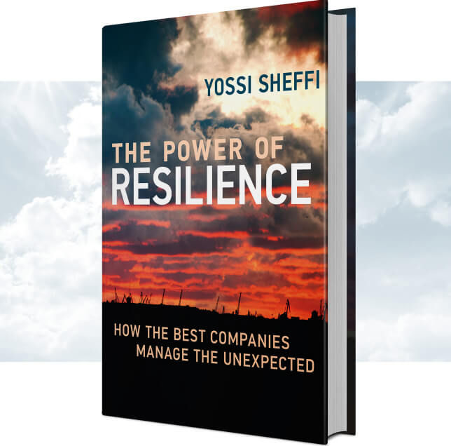 Power of Resilience with background cloud image