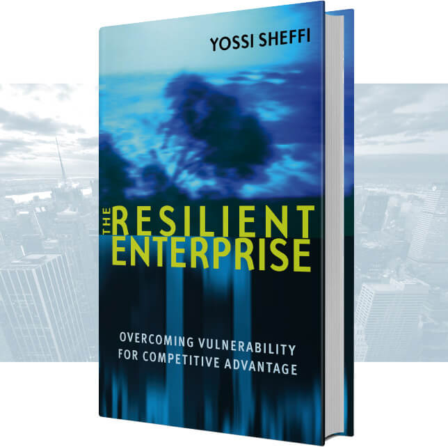 The Resilient Enterprise book cover with background image